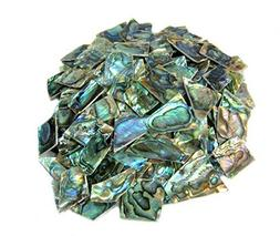 4 oz. Irregular Shape One Side Polished Green Abalone Heart