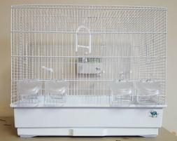 JAININE WHITE #10040010 BIRD CAGE FOR FINCHES, CANARIES, AND