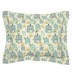 Japanese Japan Bird Cages Brushstroke Feminine Pillow Sham b