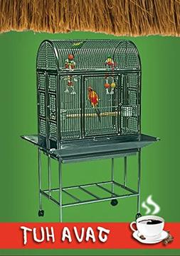 Java Hut Haven Stainless Steel Small Bird Cage - Perfect for