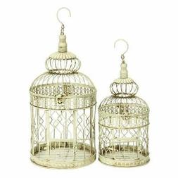 The Curated Nomad Jiminez Metal Tall and Small Bird Cages Iv