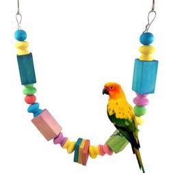 JQ_ AU_ Bird Cage Hanging Bridge Swing Ladder Toy for Parrot