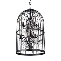 Edvivi Kailani 8-Lights Oil Rubbed Bronze Bird Cage Crystal