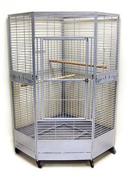 Kapoho Kave II Large Corner Bird Cage - Perfect for Large Pa