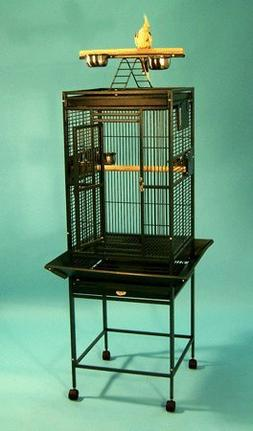"Kiki Kottage Bird Cage - 18"" X 18"" X 53"" - Green - Dome Top"
