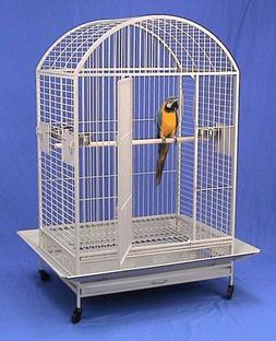 "Kilauea Kastle Dometop Bird Cage - 40"" X 30"" X 66"" - Black V"