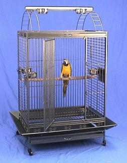 """Kilauea Kastle Playtop Bird Cage - 40"""" X 30"""" X 73"""" - Eggshel"""