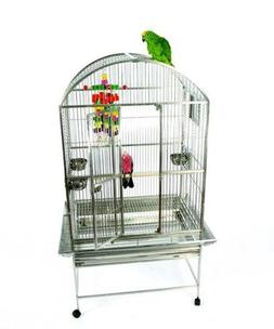 Koloa Kavern Dometop Stainless Steel Bird Cage with Stand -