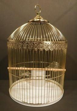 Kozy Cage Gold Metal Wire Hanging Bird Cage Home Decor Cages