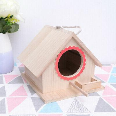 1 Pc Bird Cage Natural Decorative Solid Wood Durable House D