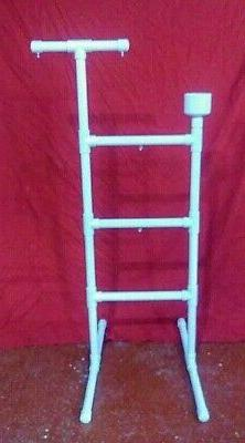 "1"" PVC Parrot Play Gym  FLOOR PERCH  STAND Macaw  Cockatoo"