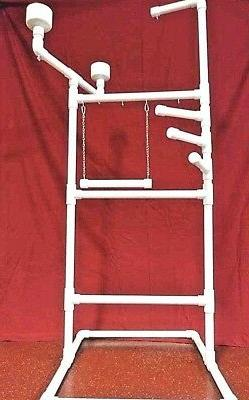 "1"" PVC Parrot Play Stand DELUXE X-LARGE FLOOR PERCH  With SW"