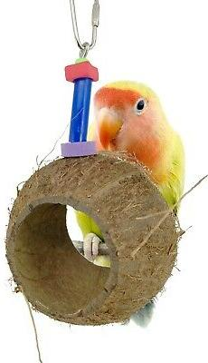 1232 COCO NEST BIRD TOY parrot cage toys cages conure cockat