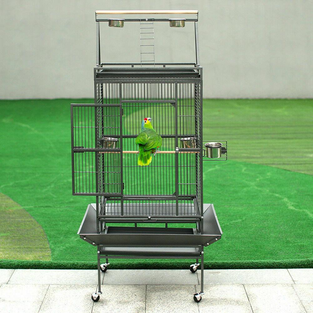 173cm extra large bird cage moving play