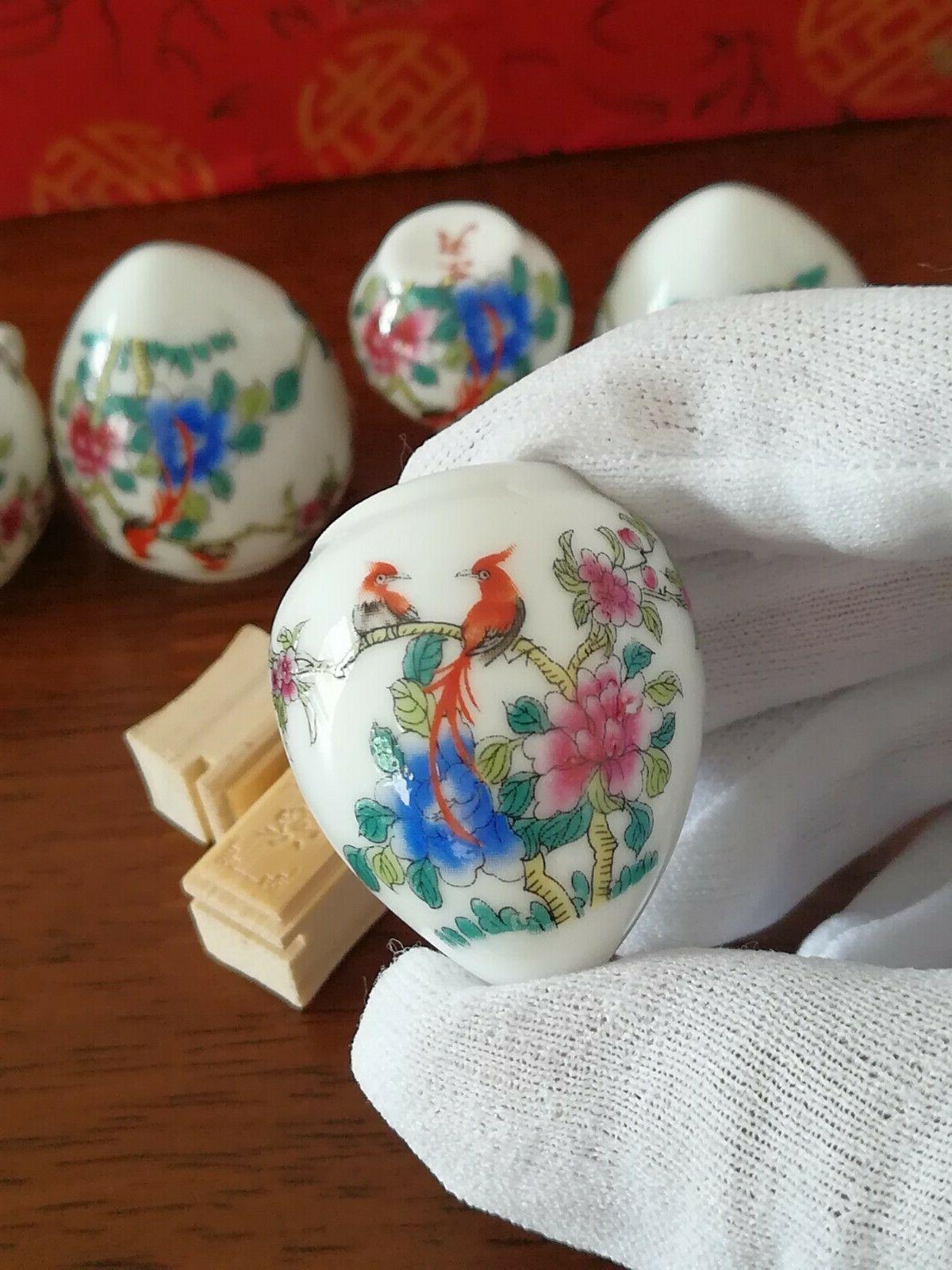 1set Asian Bamboo Bird Cage and bird 陶瓷鸟食杯