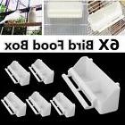 2/4/6pcs White Bird Cage Plastic Feed Cup Seed Water Dispens