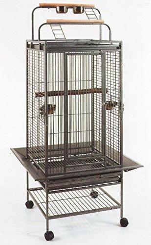 2 Color, New Large Play Top Bird Cage Parrot Finch Macaw Coc
