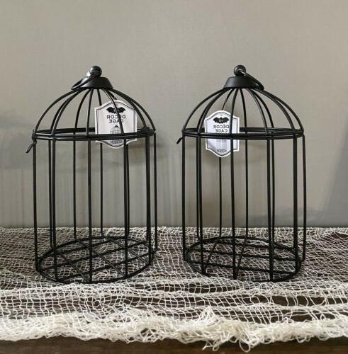 2 bp black bird metal cages fall