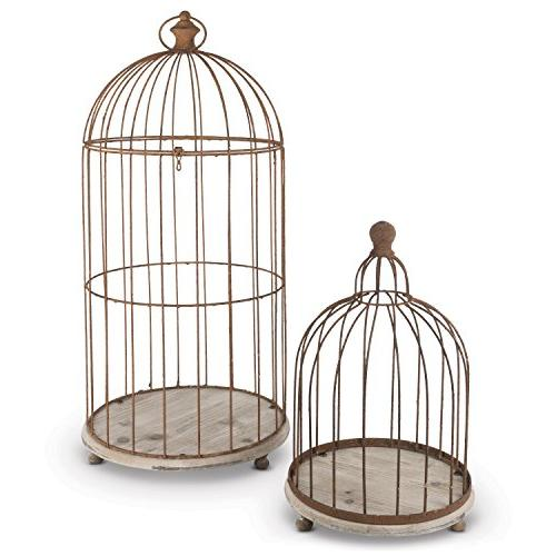 2 metal wire bird cage