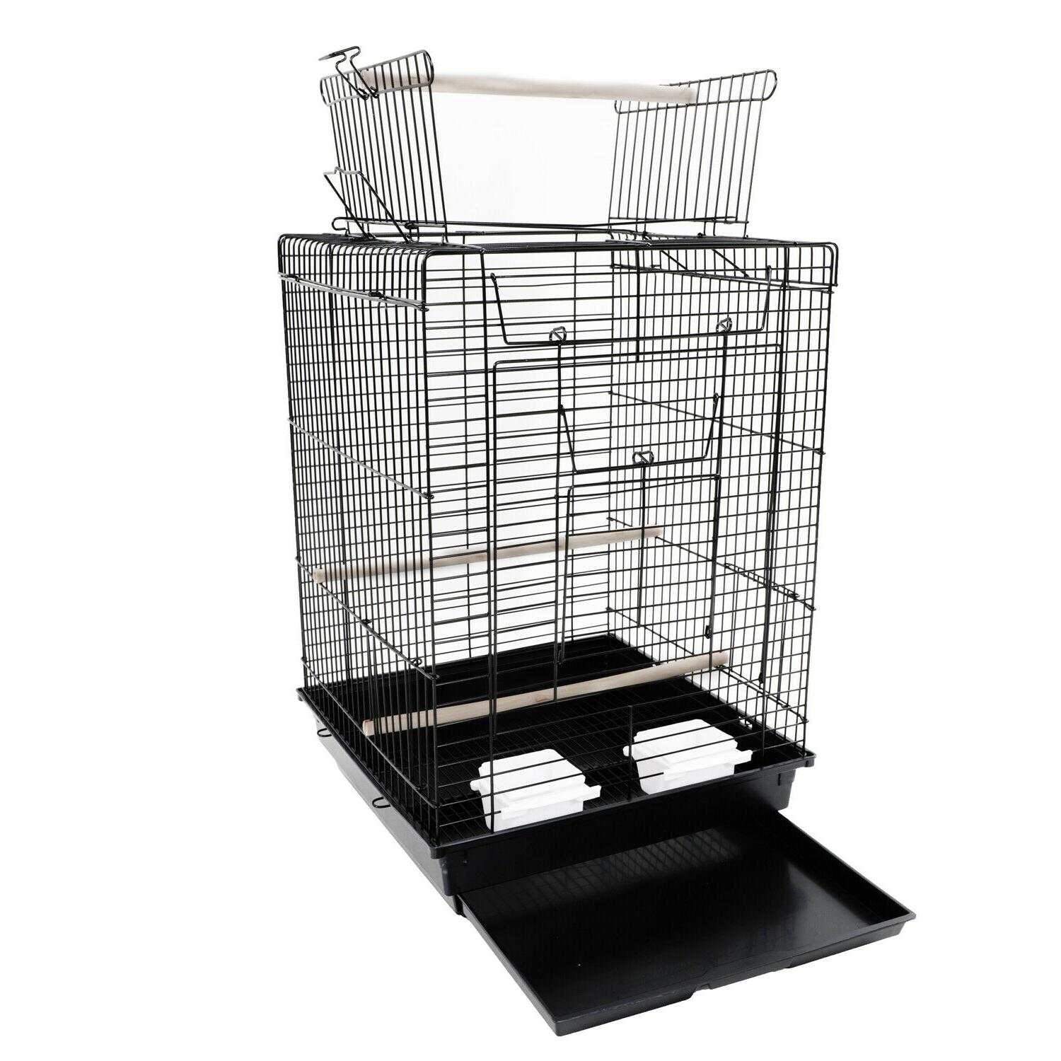 Supplies Metal Cage Open Black