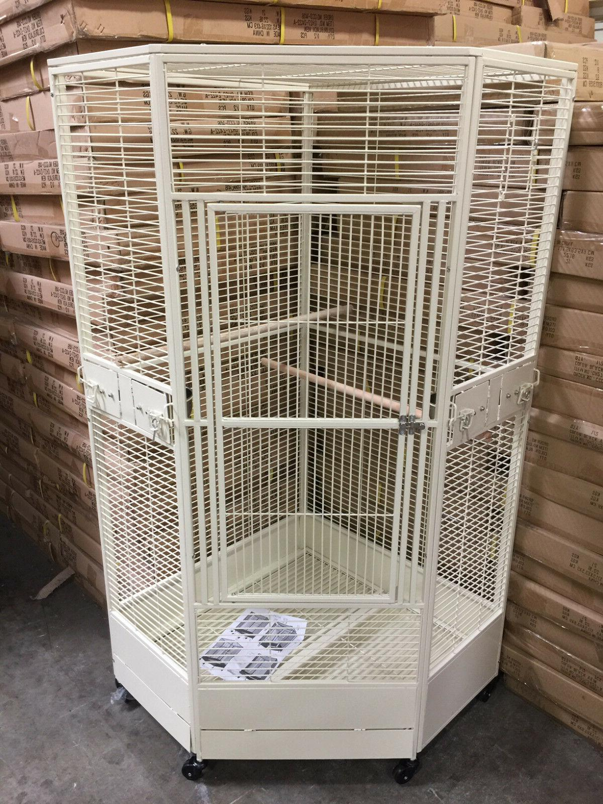 "3 Color, Extra 36"" Parrot Wrought Cage r36"" X"