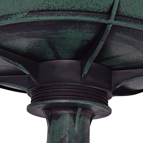 Giantex 3 Fountain Garden Decor Bird W/Pump