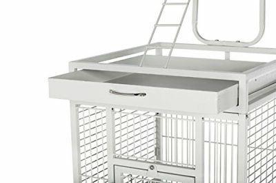 Prevue Products Iron Bird Cage, Chalk White