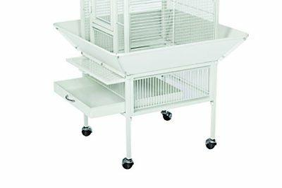 Prevue Hendryx 3151C Products Wrought Iron Bird Cage, Chalk White