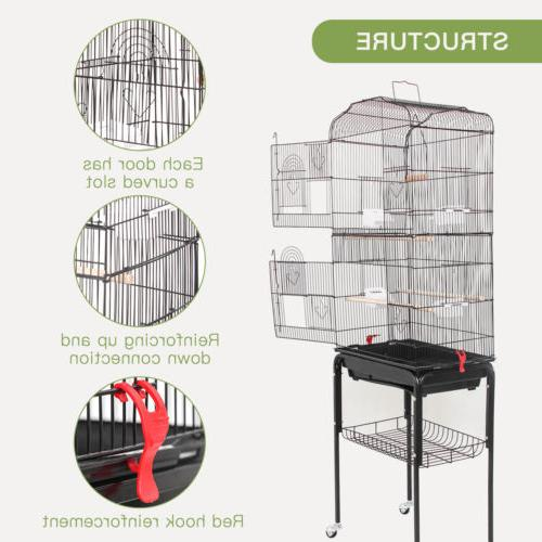 Multi-Size Large Play Top Cage Macaw Cockatoo House