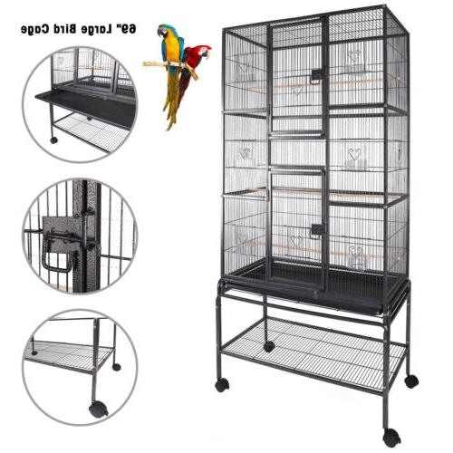 Multi-Size Bird Play Top Parrot Cage House