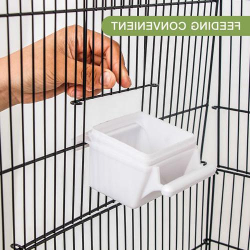 Multi-Size Bird Play Top Parrot Finch Cage Macaw Cockatoo House