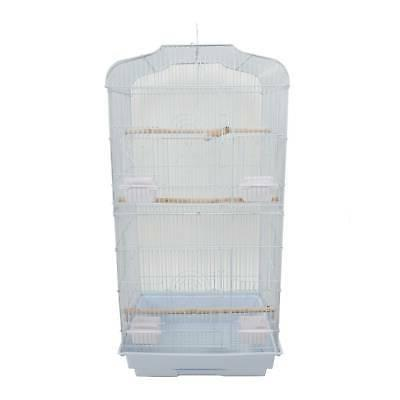 37 bird cage with wood perches food