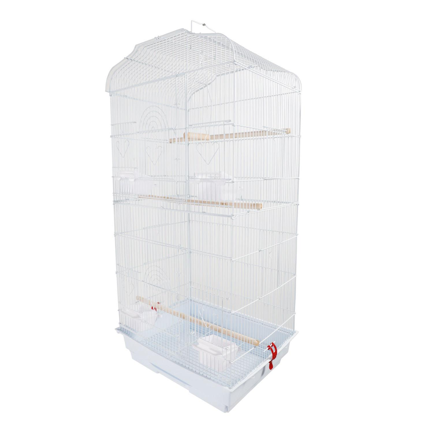 "37"" Bird Cage Perches White"