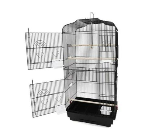 """37"""" Large Tall Bird Parrot Cage Canary Parakeet Cockatiel Lo"""