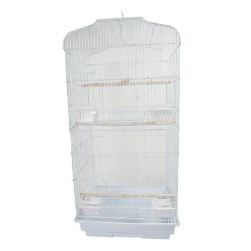 White Large Tall Parrot Cage Cockatiel Cage inch