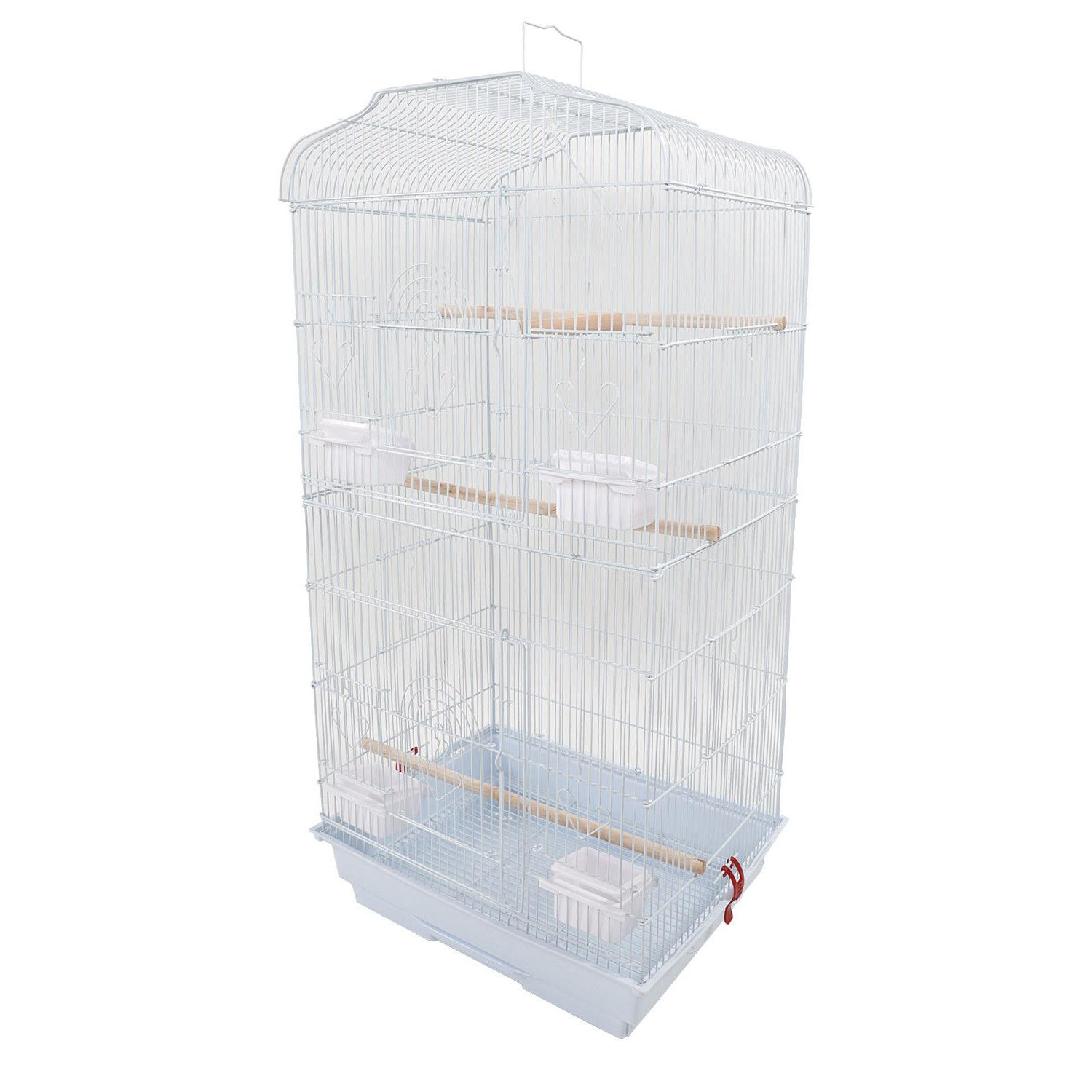"""US 37"""" Parrot Canary Parakeet Finch Bird Cage w/ Wood Perche"""