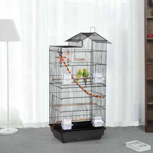 39''H Roof Top Large Bird Cage Parrot Cockatiel Conure Parak
