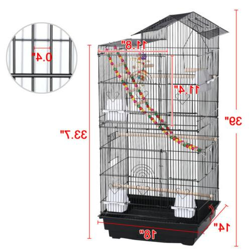 39'' Flight Parakeet Cage for Conures Black