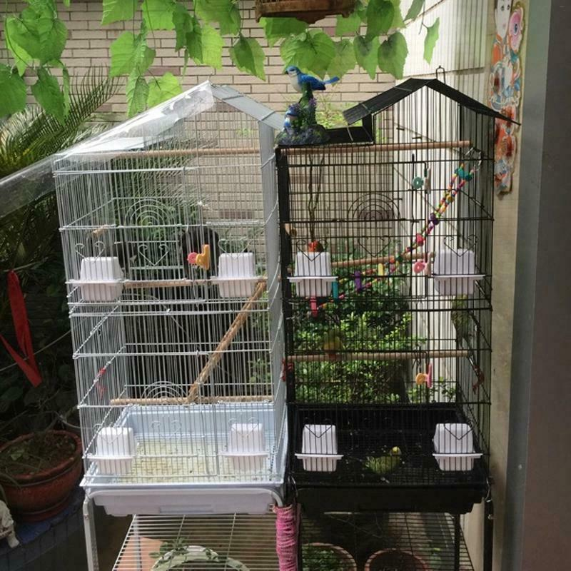 "39"" Cages Canary Cockatiel Finch Cage With Wood Food Cups"