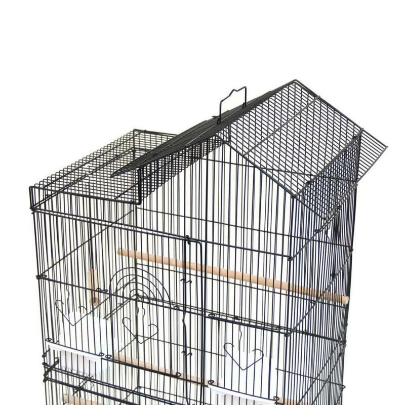 "39"" Bird Cages Canary Cage Food Cups Black"