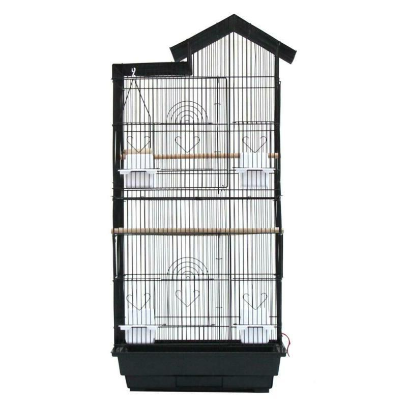 Canary Cockatiel Cage Wood Cups