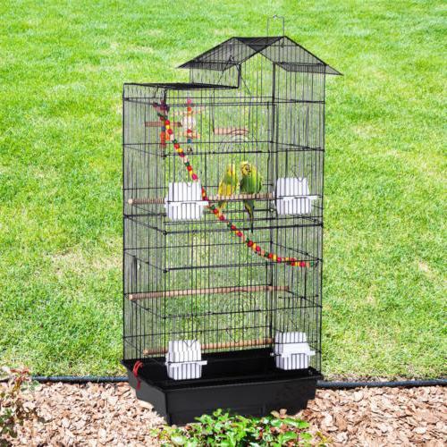 39''H Bird Conure Parakeet Cage w/Toys