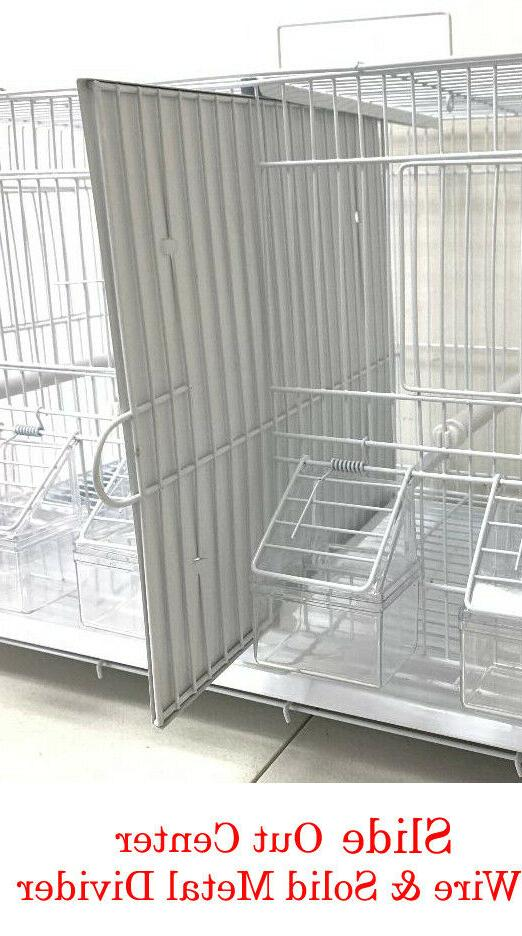 4 Breeding Bird Flight Canaries Cages With Center Divider