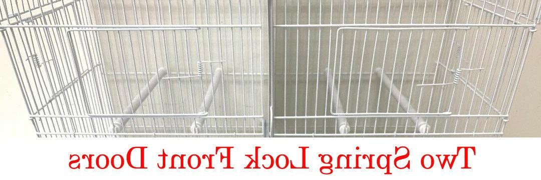 4 of Stackable Double Breeding Bird Flight Canaries Cages