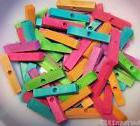 "40 Wood Blocks  2"" Colored Wooden Parrot Bird Toy Parts W/ 1"