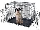 42'' 2 Doors Wire Folding Pet Crate Dog Cat Cage Suitcase Ke