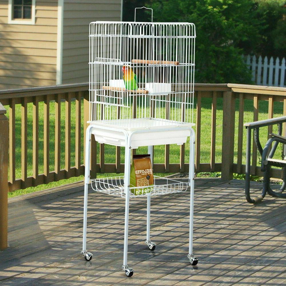 Yaheetech Metal Rolling Bird Budgie Conure Lovebird