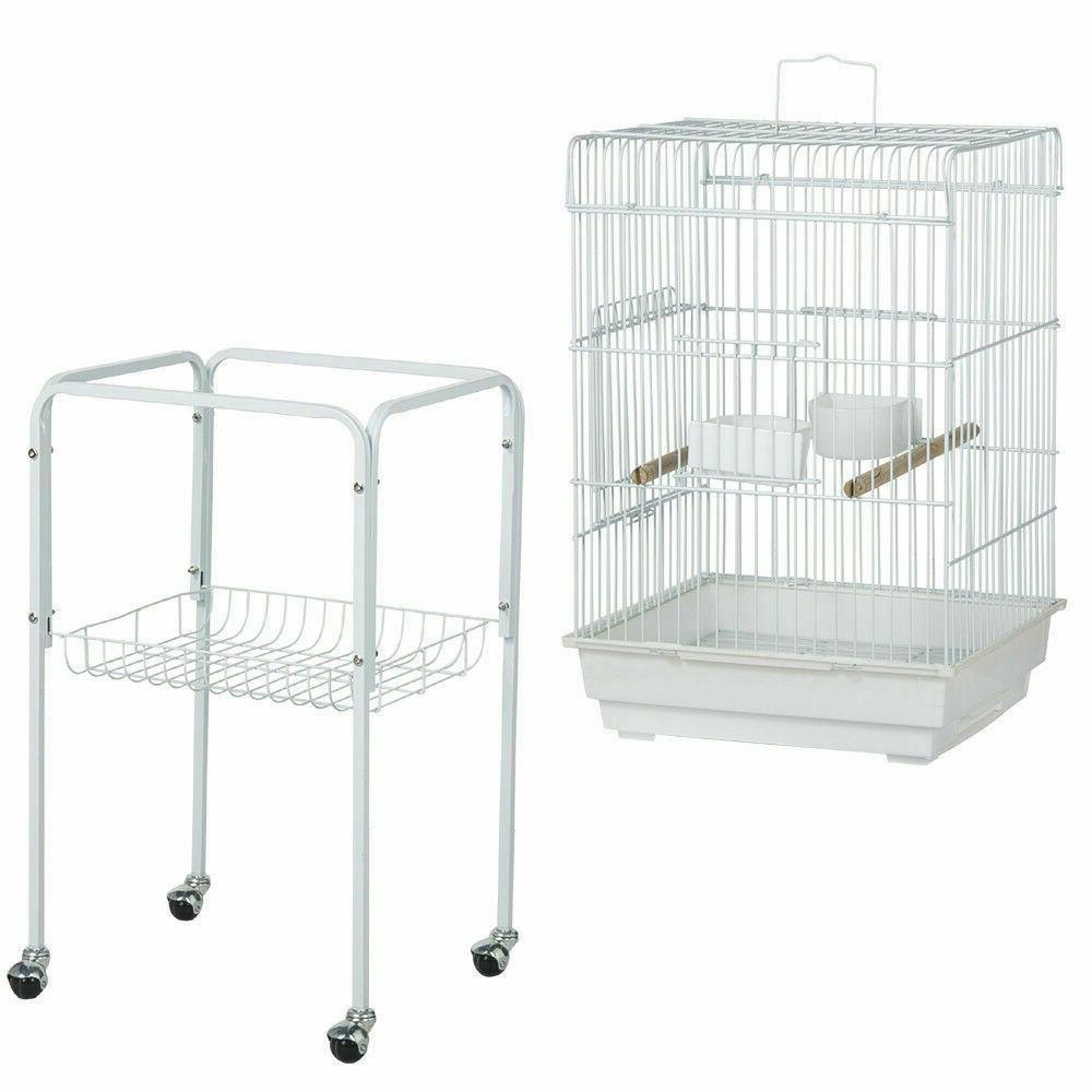 Yaheetech Rolling Bird Cage Parakeet Finch Budgie Conure