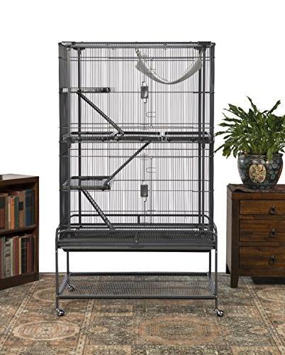 Prevue Pet Products Deluxe Cage, Dark Gray