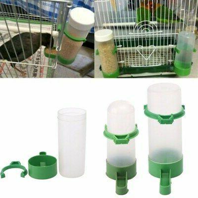 4 pcs Set Pet Bird Cage Water Drinker Food Feeder Waterer Cl